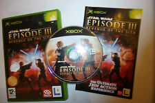 1 x ORIGINAL BOXED XBOX GAME STAR WARS Episode III Revenge Of The Sith COMPLETE
