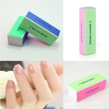 5 Pieces Fingernail Art Manicure 4 Way Shiner Buffer Buffing Block Sanding File