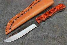 "9.5"" Sawmill File Knife with Tooled Leather Sheath Medium Model SM17"