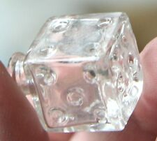 """Vintage Miniature Glass Dice Bottle  1"""" MUST SEE · new find  antique collectible"""