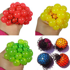 WL Funny Anti Stress Face Reliever Grape Ball Autism Mood Squeeze Relief Toy