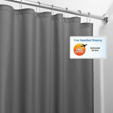 Charcoal Bathroom Shower Curtain 72 x 72 Mold Mildew Free Water Repellent Soft