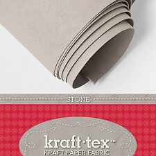 "KRAFT-TEX ROLL, STONE, 19"" X 54"" Washable, Sewable, Leather-Like, Heavy Paper"