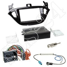 Opel Adam S-D Corsa E ab2013 Doppel-DIN Radioblende+Fach+ISO Adapter Antenne SET