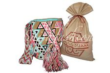 """AUTHENTIC LARGE  MOCHILA WAYUU  BAG""  GOOD QUALITY - HANDMADE CROSS BODY"