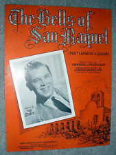 1941 THE BELLS OF SAN RAQUEL Sheet Music TED STEELE Barcelata, ENG & SPANISH