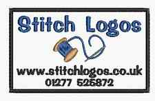 Embroidered Personalised Custom Made Badge Company Patch 10x6 Logo and Text