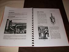 Massey Ferguson TE20 TV and Petrol Series Instruction service manual