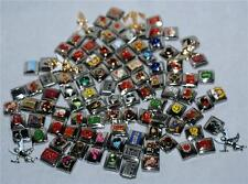 100 Pcs Random Lot ASSORTED Premium CIAO ITALIAN Stainless Steel CHARMS 9mm New