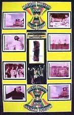 Beatles Magical Mystery Tour Bus Seat Swatch and  Film Display