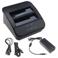 "2.5"" 3.5"" USB 3.0 SATA HDD Docking Station PC Hard Drive Backup Clone Dual Dock"