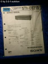 Sony Service Manual STR DE215 FM/AM Receiver (#5276)