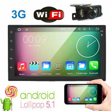 "Android 5.1 7"" 2Din InDash Car No DVD Radio Stereo Player WiFi GPS+Tablet+Camera"