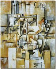 1912 Le pigeon aux petits pois - Pablo Picasso Cubist Hand Painted Oil Painting