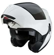 CASCO HELMET MODULARE MOTO SCOOTER NAKED SCORPION EXO 910 AIR SOLID BIANCO XS