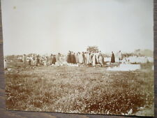 PHOTO ANCIENNE 1902 TUNISIE GROUPE D'HOMMES