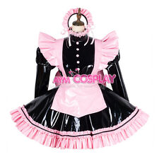 lockable PVC Sissy maid French Dress  Uniform Male Tailor-made [G1797]