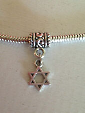 Star Of David Dangle Charm  For European Style Bracelet Or Necklace New