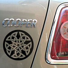 "8""  Celtic Pentagram Gloss Vinyl Car Sticker, Wicca, Witch, Pagan, Loveknot"
