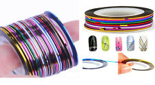 Mixed 30 Colours Roll Wrap Striping Tape DIY Nail Art Tips Line Deco Sticker