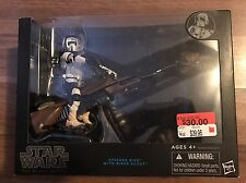 "Star Wars The Black Series 6"" Inch Speeder Bike Vehicle w/ Biker Scout NEW MISB"