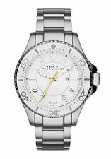 Marc by Marc Jacobs Dizz Silver Bracelet White Dial Women Watch MBM3407