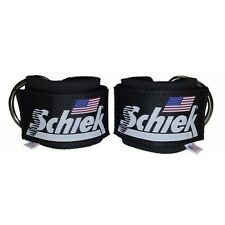 Schiek Ankle Straps Cuffs 1 Pair Black Model 1700 D Ring Cable Attachment Cuff