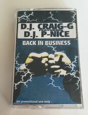 Vintage 90s Hip Hop Cassette DJ Craig G Feat DJ P Nice Back In Business Mixtape