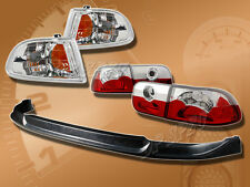 FOR 92-95 HONDA CIVIC 2DR COUPE T-S FRONT BUMPER LIP KIT CORNER LAMP TAIL LIGHTS