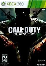 Call of Duty Black Ops (Microsoft Xbox 360) Case/ Disc COD