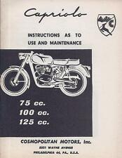 Capriolo 75/100/125cc 30 page NOS English language Owner's Manual from Cosmo