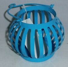 """Tealight Holder For Deck or Patio  Metal  Blue  3 1/4"""" W x 5 1/4""""T"""