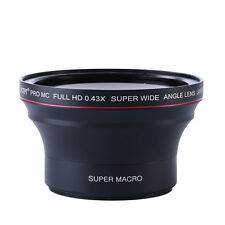 58MM 0.43x Wide Angle Macro Lens For Canon EOS 1100D 650D 600D K&F Concept 18-55