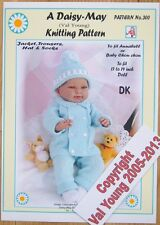 """DOLLS KNITTING PATTERN by DAISY-MAY  No.300 for a 17"""" to 19"""" inch doll"""