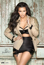 KIM KARDASHIAN - SEXY PIN UP POSTER - 24x36 JACKET LEATHER 10515