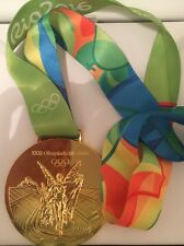 Rio 2016 Olympic Gold Medal With Ribbon - Discounted (Slightly Damaged)