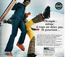Publicité Advertising 1972 Les Vetements de ski Olympic