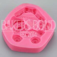 Christmas Teddy Bear In Present Cart Silicone Mould Fondant Icing Cake Cupcake