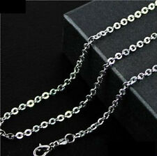 316L Stainless Steel O Link Chain Necklace Anti allergy Never Fade Wholesale 22""