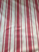 Laura Ashley natural/red Forbury stripe  Furnishing fabric By The Metre
