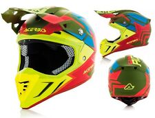 CASCO MOTO CROSS ENDURO ACERBIS PROFILE 3.0 SNAPDRAGON VERDE GIALLO FLUO TG XL
