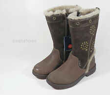 Umi Girls Chaarmy UmiTex Brown Leather Zip Boots UK 11 EU 29 US11.5 RRP £53.00