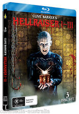 HELLRAISER 1 + 2 + 3 HORROR FILMS BLU RAY STEELBOOK COLLECTION NEW RB BOXSET