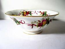 ROYAL ALBERT OLD COUNTRY ROSES Christmas Tree Large Serving Bowl   NEW