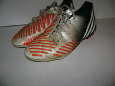 ADIDAS PREDATOR FUTBALL SOCCER CLEATS YOUTH BOYS SHOES size 3 M WHITE ORANG