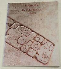 Sothebys Pre-Columbian Art NY May 1988
