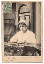 CPA ALGERIE - ALGER - 241. Jeune Mauresque chez elle - DZ