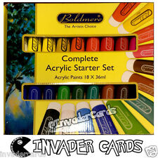 Boldmere Complete Acrylic Starter Set Paints 18x36ml Artist Kit New Boxed