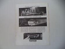 advertising Pubblicità 1971 AUTORADIO VOXSON