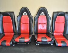 04-08 MAZDA RX-8 RX8 POWER SEATS SEAT SET FRONT REAR LEATHER RED BLACK HEATED